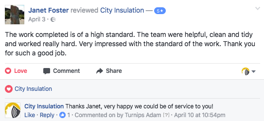 Soundproofing job facebook review
