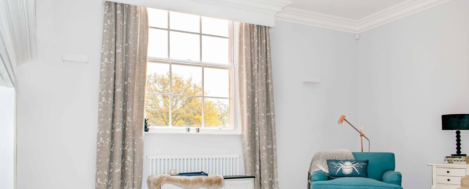 image of a bedroom with secondary acoustic glazing